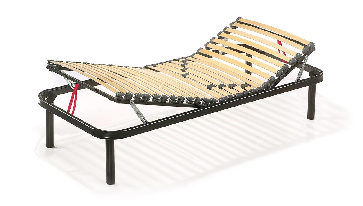 Rete alza testa e piedi manuale snodi in sbs doghe da 38 mm linearete srl - Testa del letto ...