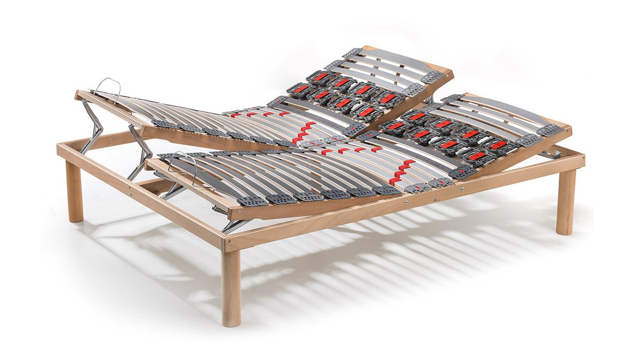 Rete sanitaria con sospensioni nuvola zona spalle in legno manuale matrimoniale c17 linearete - Parti di un letto ...